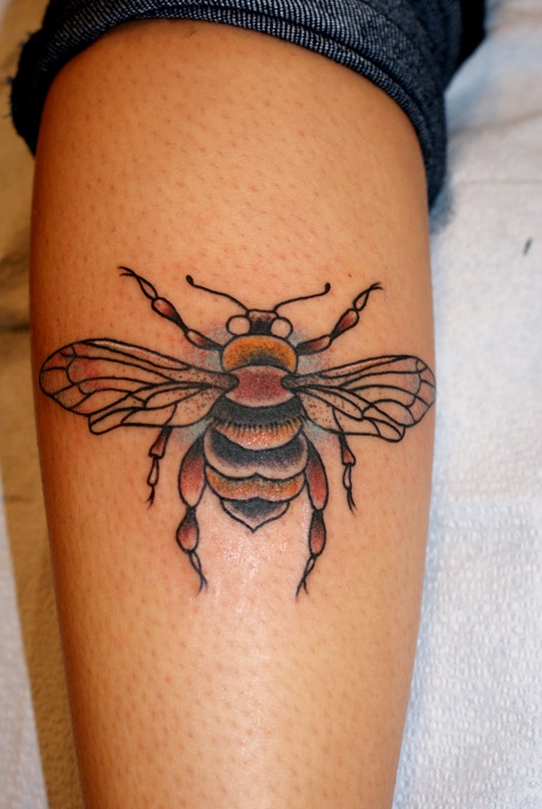Bee tattoo designs (25)