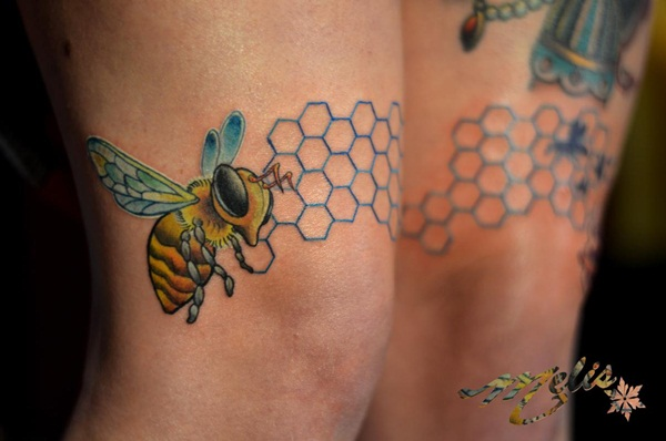 Bee tattoo designs (27)