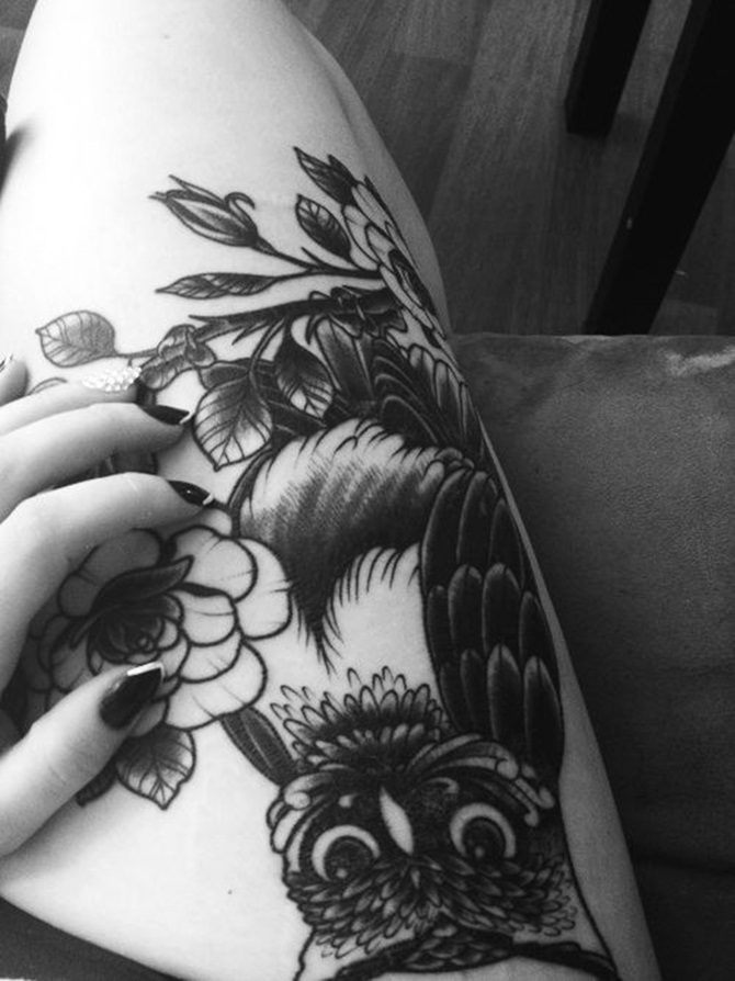 Sexy Thigh Tattoos for Girls (1)