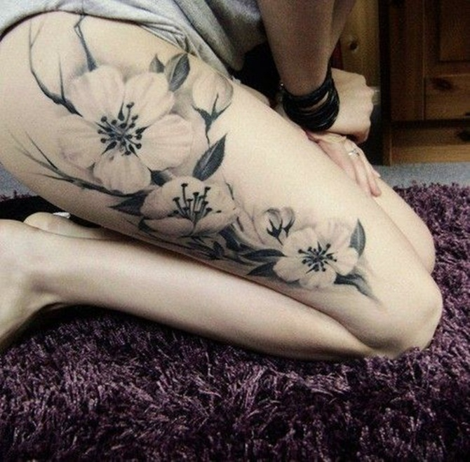 Sexy Thigh Tattoos for Girls (10)