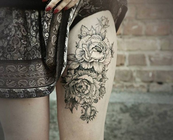 Sexy Thigh Tattoos for Girls (13)