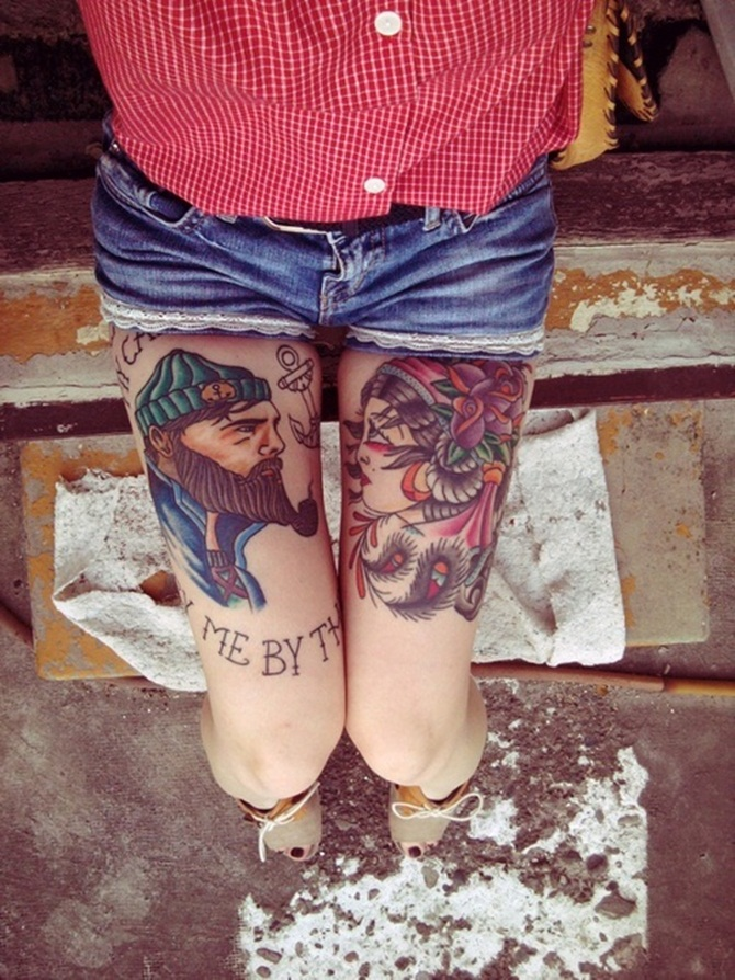 Sexy Thigh Tattoos for Girls (14)