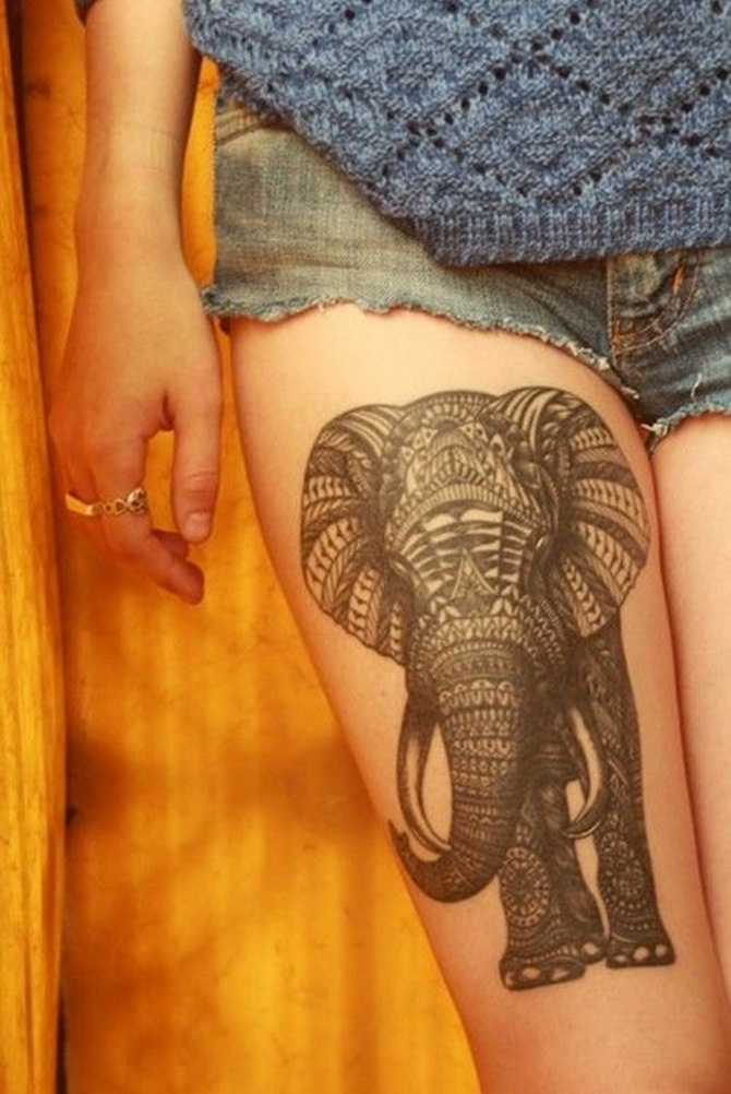 Sexy Thigh Tattoos for Girls (19)