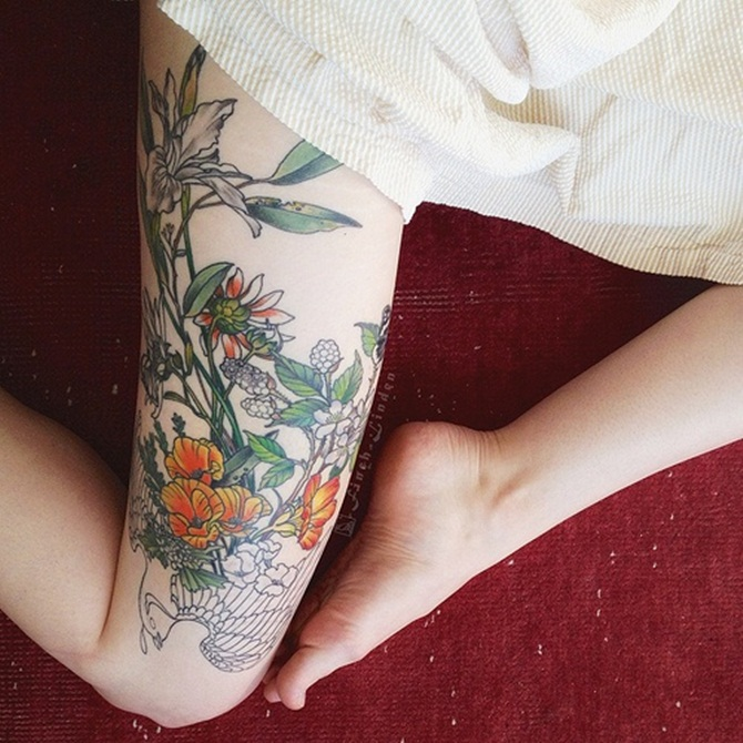 Sexy Thigh Tattoos for Girls (3)