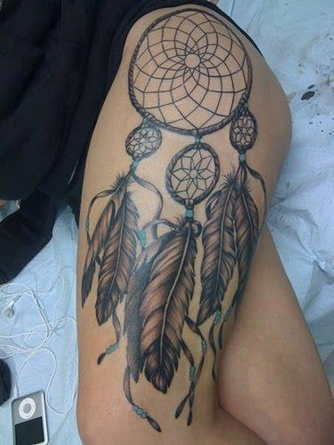 Sexy Thigh Tattoos for Girls (4)