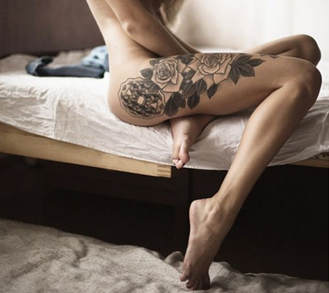 Sexy Thigh Tattoos for Girls (5)