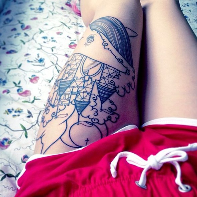 Sexy Thigh Tattoos for Girls (8)