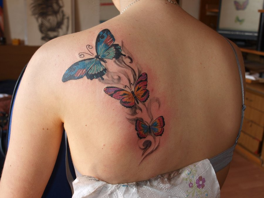 Butterfly Tattoos On Shoulder