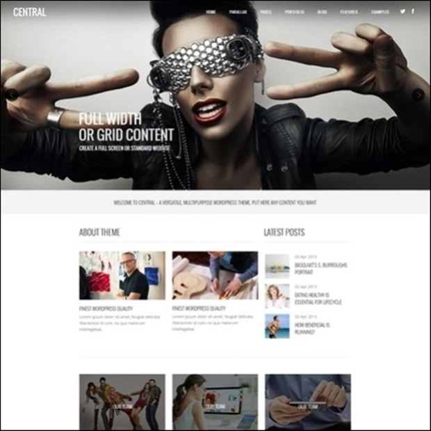 Central – Versatile, Multi-Purpose WordPress Theme