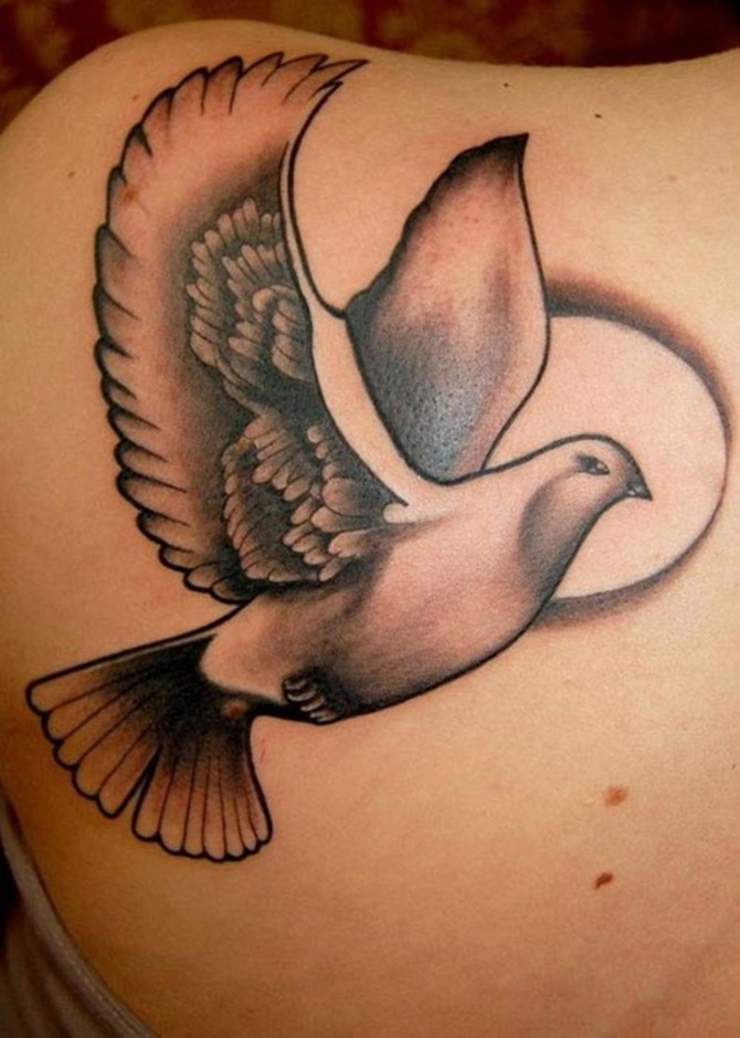 Dove Tattoo Designs For Girls (7)