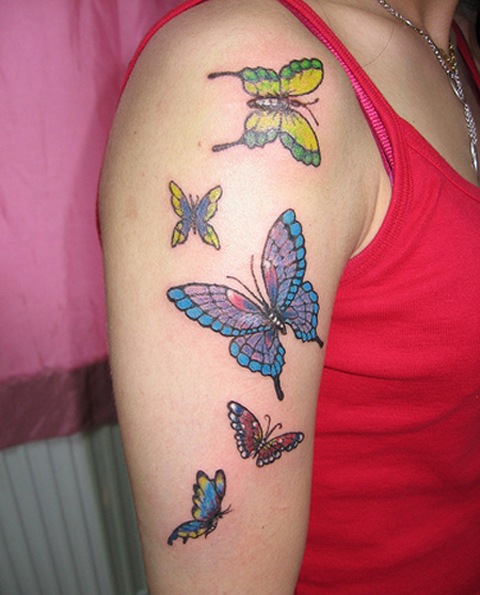 Hand Butterfly Tattoo Designs