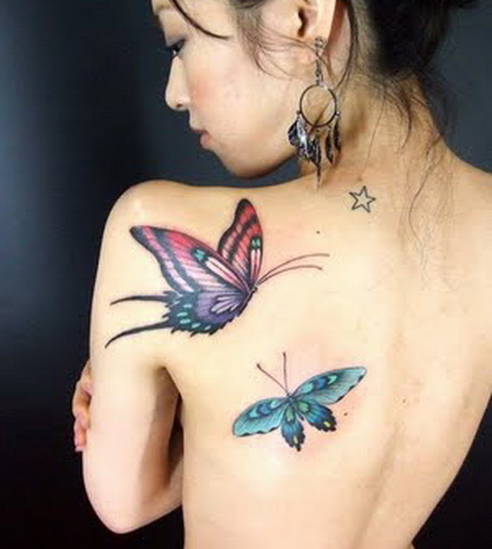 Japanese Butterfly Tattoo Designs
