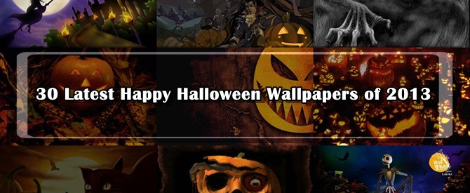 30 Latest Happy Halloween Wallpapers of 2013