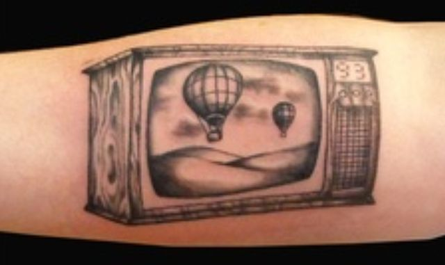 3D Tattoo of Television