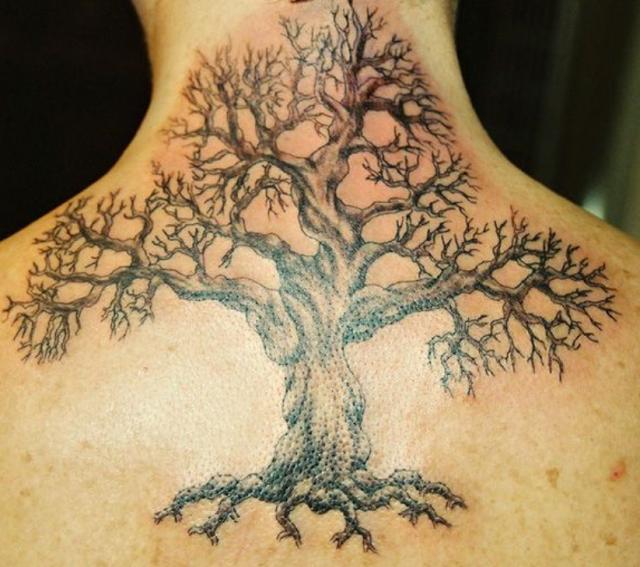 3D Tree Tattoo