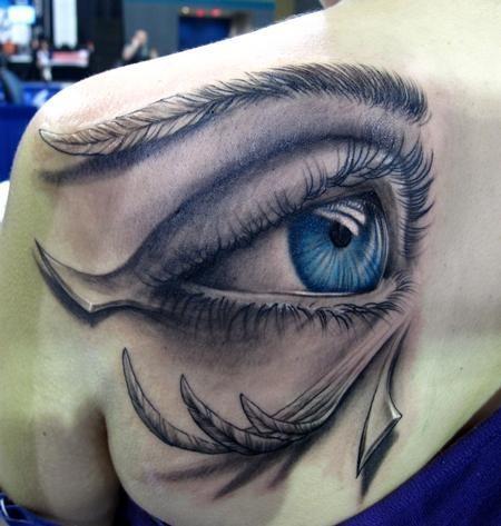 Amazing 3D Eye Tattoo Design