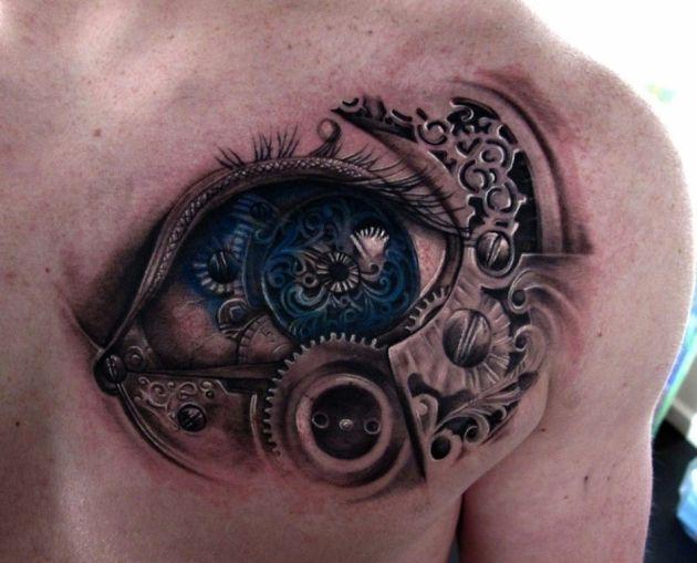 BioMechanical 3D Tattoo