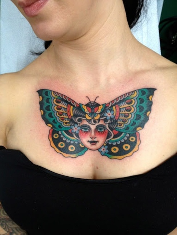 Chest Tattoo Designs For Men And Women (14)
