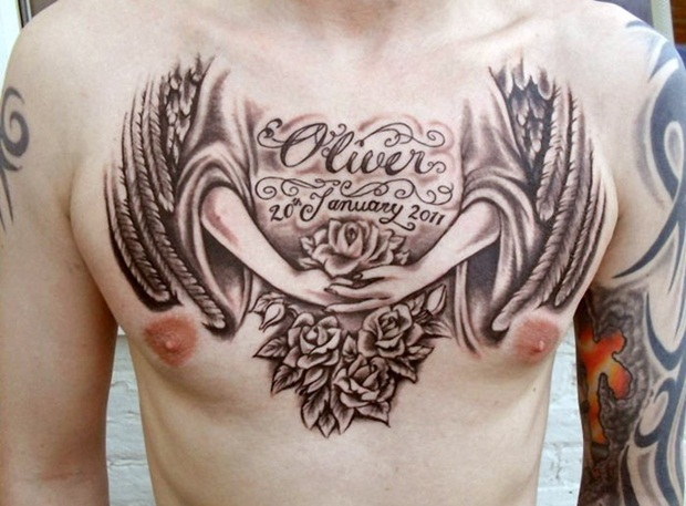 Chest Tattoo Designs For Men And Women (18)