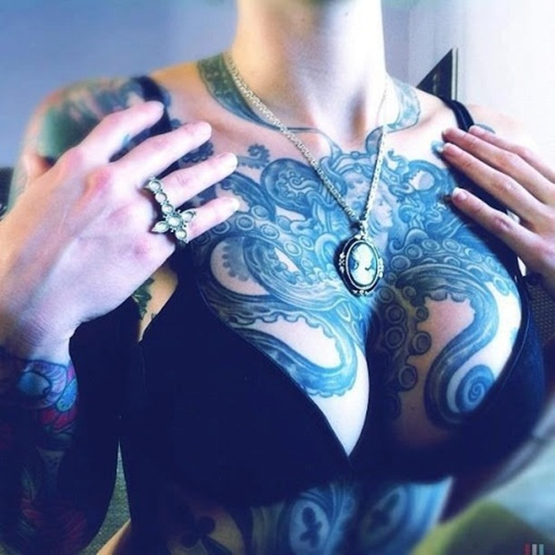 Chest Tattoo Designs For Men And Women (25)