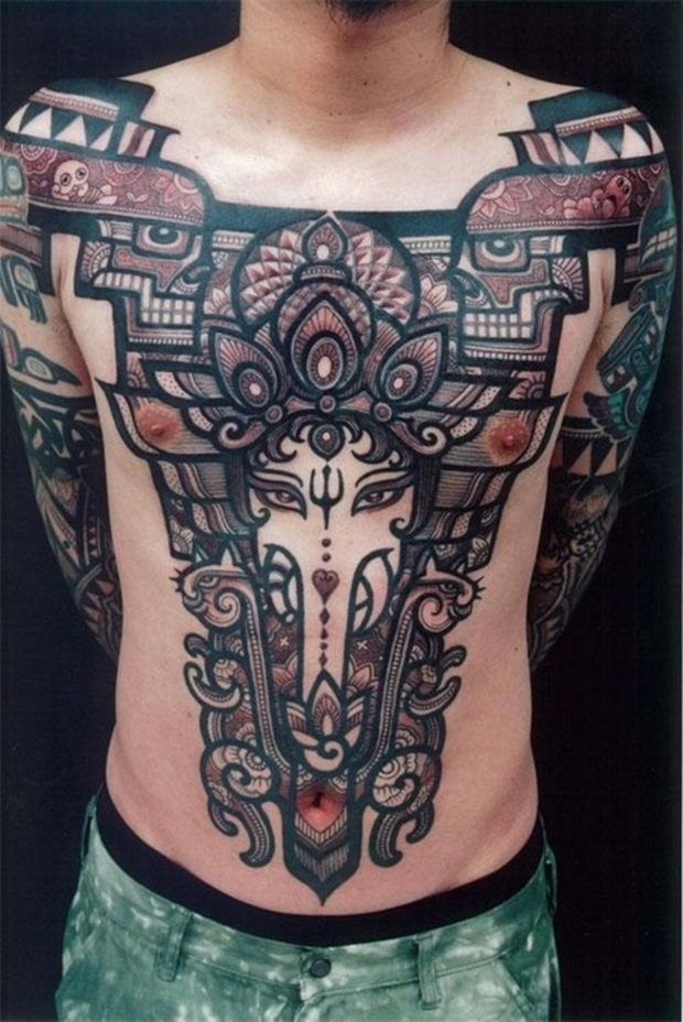 Chest Tattoo Designs For Men And Women (33)