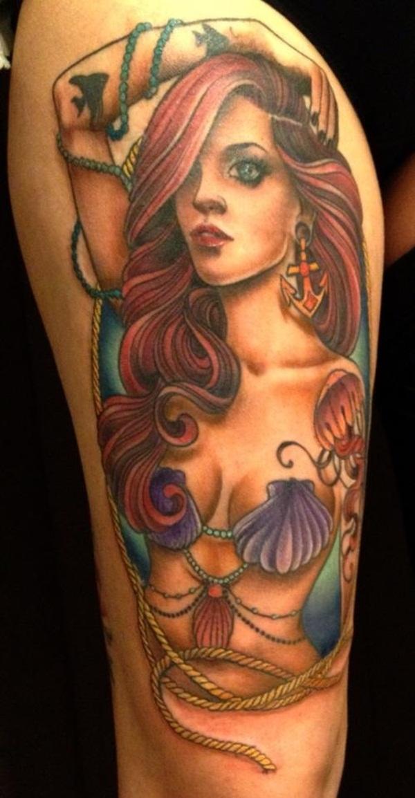 30 Amazing Mermaid Tattoo Designs For Men And Women