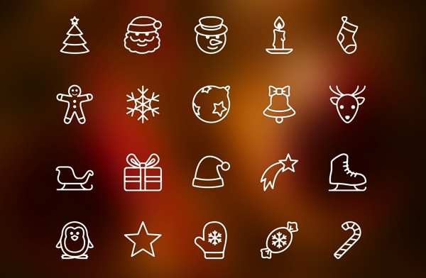 Christmas free icon packs for all platforms