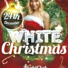 Free White Christmas Flyer Template
