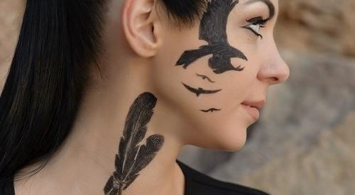 Black and bold tattoo