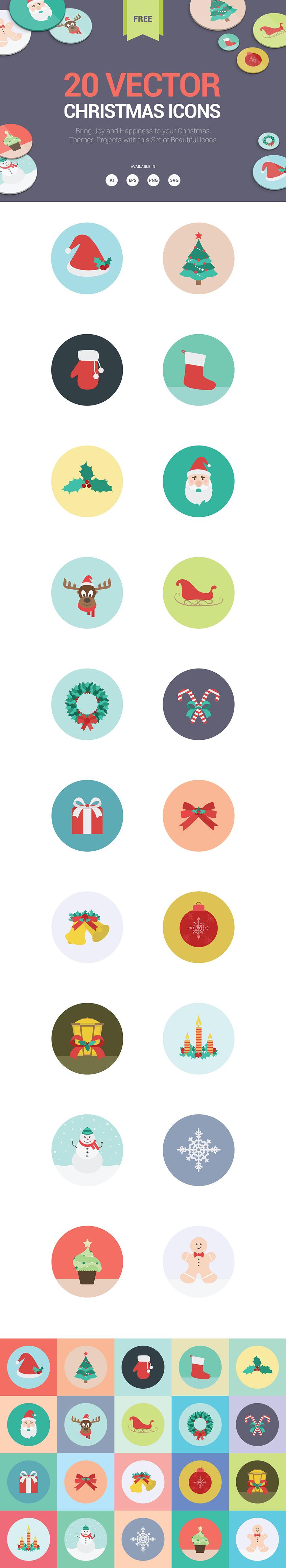 20 Christmas Icons 2015