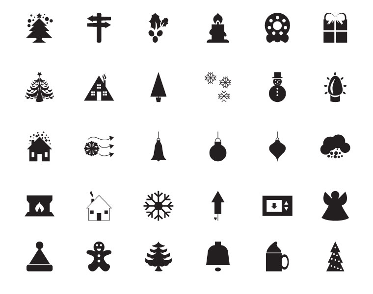 30 Free Christmas Vector Icons