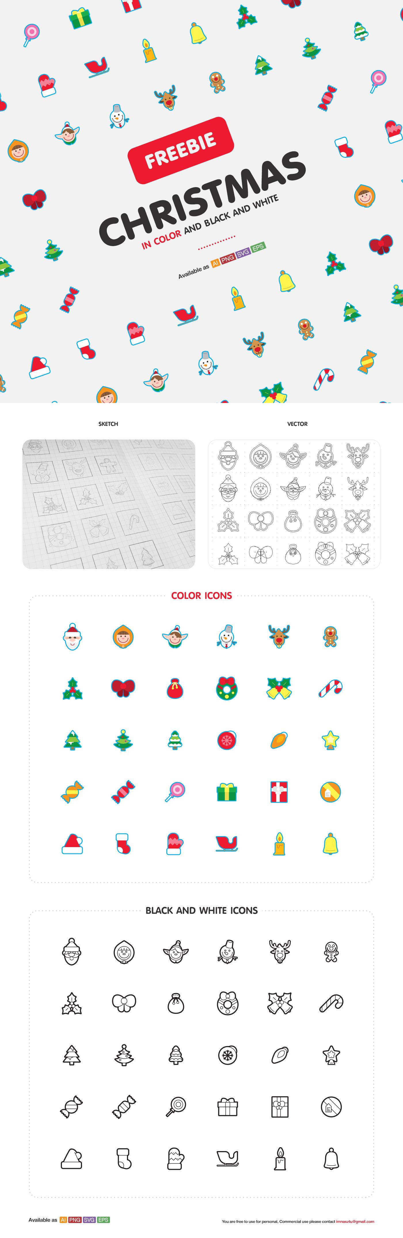 Beautiful Christmas icons 2015