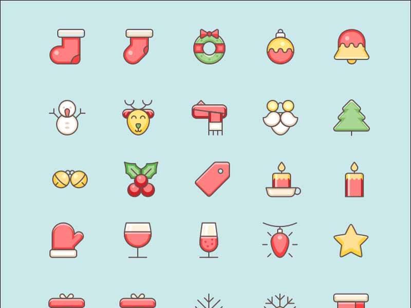 Free Christmas Vector Icons Set