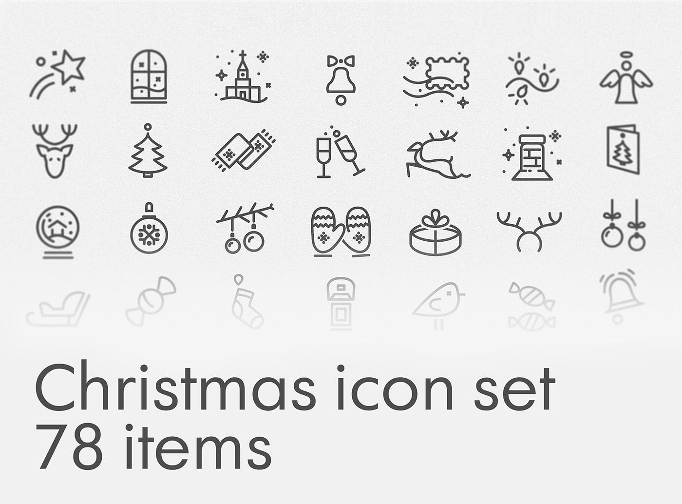 Free Christmas icon set