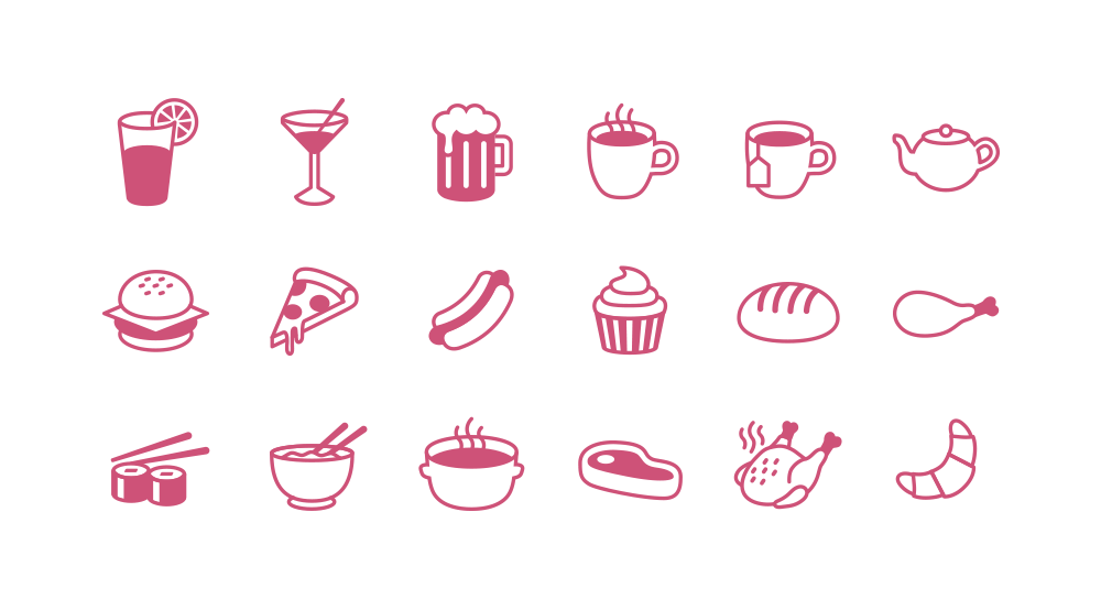 Free Food Christmas Icon Set