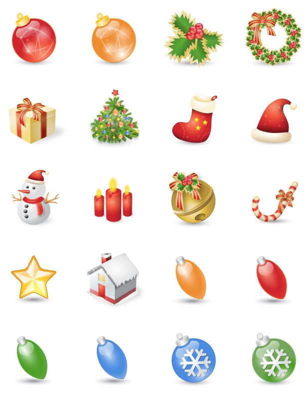 Fresh Chritmas icon set