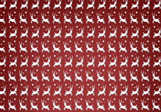 Reindeer Christmas Seamless Vector Pattern